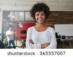smiling young woman standing... | Shutterstock . vector #365557007