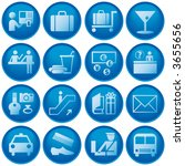 airport   travel icons | Shutterstock . vector #3655656