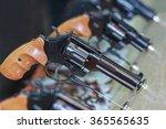 guns on the counter. firearms...