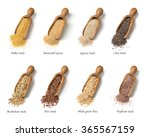wooden spoons with gluten free... | Shutterstock . vector #365567159