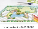 landscape architect design... | Shutterstock . vector #365570585