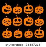 halloween night background ... | Shutterstock .eps vector #36557215