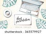 template design concept sketch... | Shutterstock .eps vector #365579927