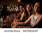 portrait of female friends on... | Shutterstock . vector #365582639