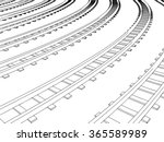 Curved Endless Train Track....