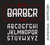 gentlemans barber shop vintage...   Shutterstock .eps vector #365592284