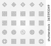 maze icons set   vector outline ... | Shutterstock .eps vector #365593349