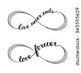 infinity love symbol tattoo.... | Shutterstock .eps vector #365595629