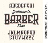 gentlemans barber shop vintage...   Shutterstock .eps vector #365599124