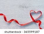 red valentines heart shaped... | Shutterstock . vector #365599187