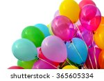 multicolored balloons  isolated ... | Shutterstock . vector #365605334