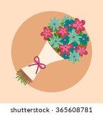 bouquet of flowers. design for... | Shutterstock .eps vector #365608781