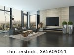 spacious modern living room... | Shutterstock . vector #365609051