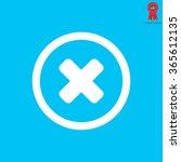 delete sign  icon. remove... | Shutterstock .eps vector #365612135