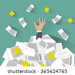cartoon businessman need help... | Shutterstock .eps vector #365624765