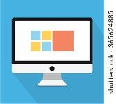 cute flat computer | Shutterstock .eps vector #365624885