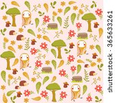 vector forest pattern | Shutterstock .eps vector #365633261