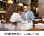 loving couple having romantic... | Shutterstock . vector #365634731