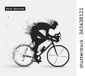 cyclists. vector eps10... | Shutterstock .eps vector #365638121