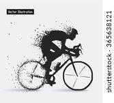 cyclists. vector eps10... | Shutterstock .eps vector #365638121