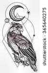 detailed hand drawn bird of... | Shutterstock .eps vector #365640275