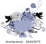 grunge background for valentine'... | Shutterstock . vector #36565075