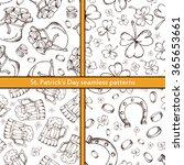 hand drawn seamless pattern... | Shutterstock .eps vector #365653661