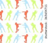 roller skating inline skates... | Shutterstock .eps vector #365654711