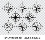 vector compass set. vector geo... | Shutterstock .eps vector #365655311