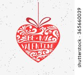 valentines day card. be my... | Shutterstock .eps vector #365660039