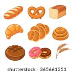 vector bread set | Shutterstock .eps vector #365661251