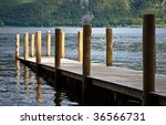 Jetty On Derwent Water Lake In...