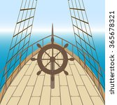 afterdeck of a boat and a sea....   Shutterstock .eps vector #365678321