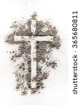 Christian Cross Symbol Made Of...