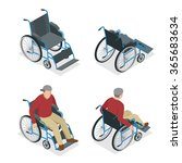 wheelchair isometric icon.... | Shutterstock .eps vector #365683634
