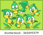 very adorable green canary... | Shutterstock .eps vector #365695379