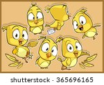 very adorable yellow canary... | Shutterstock .eps vector #365696165