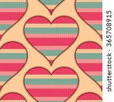 seamless pattern with hearts.... | Shutterstock .eps vector #365708915