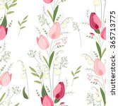 seamless pattern with stylized... | Shutterstock .eps vector #365713775