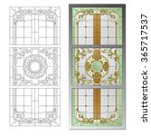 Stained Glass Ceiling Lamp In...