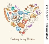cooking is my passion. baking... | Shutterstock .eps vector #365719415
