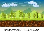seamless cartoon nature...   Shutterstock .eps vector #365719655