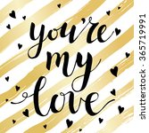 valentines day card with modern ... | Shutterstock .eps vector #365719991