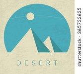 vector minimal poster  desert | Shutterstock .eps vector #365722625