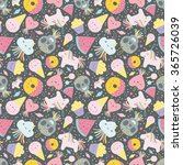 seamless pattern with funny...   Shutterstock .eps vector #365726039