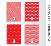 abstract red and white flyer or ... | Shutterstock .eps vector #365727389