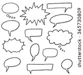 blank speech bubbles   cartoon... | Shutterstock .eps vector #365730809