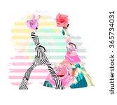 abstract watercolor sketch...   Shutterstock .eps vector #365734031