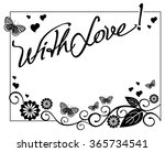greeting card with butterflies... | Shutterstock .eps vector #365734541