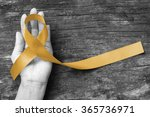 childhood cancer awareness gold ... | Shutterstock . vector #365736971